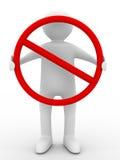 Símbolo de la parada de los asimientos de los hombres Imagen de archivo libre de regalías