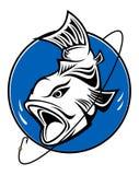 Símbolo de la pesca Fotos de archivo