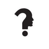 Símbolo de la pista humana del signo de interrogación Foto de archivo libre de regalías