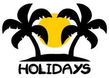 Símbolo de la playa de los días de fiesta Fotos de archivo libres de regalías