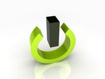 Símbolo de la potencia stock de ilustración