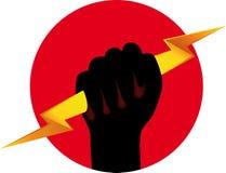 Símbolo de la potencia Imagen de archivo libre de regalías