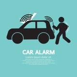 Símbolo de la prevención de la piratería de la alarma para coches Foto de archivo