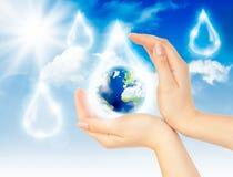 Símbolo de la protección del medio ambiente Fotografía de archivo libre de regalías