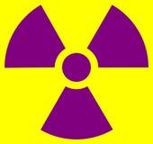 Símbolo de la radiación Foto de archivo libre de regalías