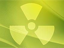 Símbolo de la radiación Imagen de archivo