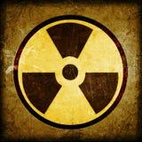 Símbolo de la radiactividad foto de archivo