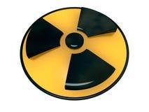 Símbolo de la radiactividad Imagen de archivo