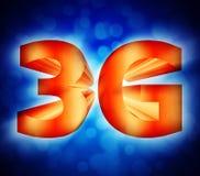 símbolo de la red 3G Imagen de archivo libre de regalías