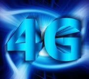 símbolo de la red 4G Imagen de archivo