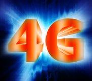 símbolo de la red 4G Fotografía de archivo libre de regalías