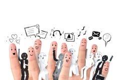 símbolo de la red del social del negocio Imagenes de archivo