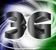 símbolo de la red 3G Imagenes de archivo