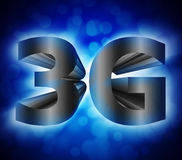 símbolo de la red 3G Imagen de archivo