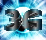 símbolo de la red 3G Fotografía de archivo