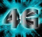 símbolo de la red 4G Foto de archivo libre de regalías
