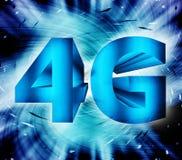 símbolo de la red 4G Foto de archivo