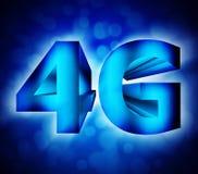 símbolo de la red 4G Imagen de archivo libre de regalías
