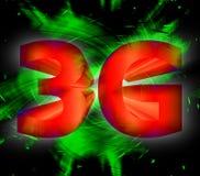 símbolo de la red 3G Fotografía de archivo libre de regalías