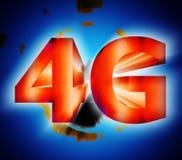 símbolo de la red 4G Imágenes de archivo libres de regalías