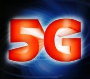 símbolo de la red 5G Imagen de archivo libre de regalías