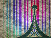 Símbolo de la red inalámbrica de los Wi Fi Imágenes de archivo libres de regalías