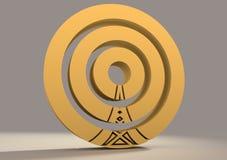Símbolo de la red inalámbrica de los Wi Fi Foto de archivo