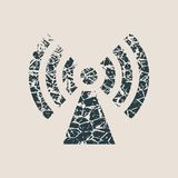 Símbolo de la red inalámbrica de los Wi Fi fotografía de archivo libre de regalías