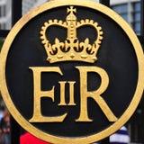 Símbolo de la reina Elizabeth II Regina Fotografía de archivo libre de regalías