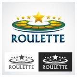 Símbolo de la ruleta del casino Imagen de archivo libre de regalías