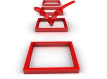 Símbolo de la señal de la lista de comprobación Foto de archivo libre de regalías