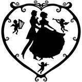 Símbolo de la tarjeta del día de San Valentín Foto de archivo