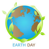 Símbolo de la tierra, compañía de la insignia Fotos de archivo