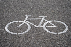 Símbolo de la trayectoria de la bicicleta Fotos de archivo
