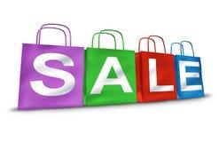 Símbolo de la venta de los bolsos de compras Imagen de archivo libre de regalías