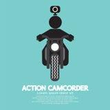 Símbolo de la videocámara de la acción ilustración del vector
