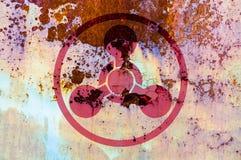 Símbolo de las armas químicas Fotos de archivo