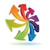 símbolo de las flechas 3d stock de ilustración
