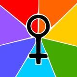 Símbolo de las mujeres Imágenes de archivo libres de regalías