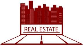 Símbolo de las propiedades inmobiliarias con el lugar para el texto Foto de archivo libre de regalías