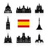 Símbolo de las señales del viaje de España libre illustration