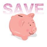 Símbolo de los ahorros de la hucha del éxito financiero Imagenes de archivo