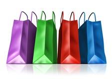 Símbolo de los bolsos de compras Fotos de archivo libres de regalías