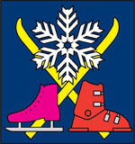 Símbolo de los deportes de invierno fotografía de archivo libre de regalías