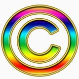 Símbolo de los derechos reservados del arco iris Imágenes de archivo libres de regalías