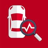 Símbolo de los diagnósticos del coche Fotos de archivo libres de regalías