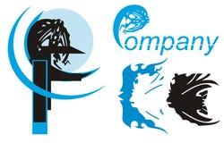 Símbolo de los pescados para su diseño Imágenes de archivo libres de regalías