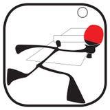 Símbolo de los tenis de mesa Fotografía de archivo