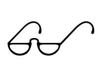 Símbolo de los vidrios del ojo Fotografía de archivo