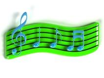 símbolo de música 3D Imagens de Stock